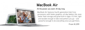 MacBook Air from $1,099